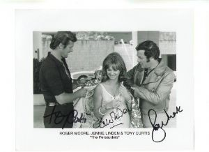 Sir Roger Moore, Tony Curtis and Jennie Linden